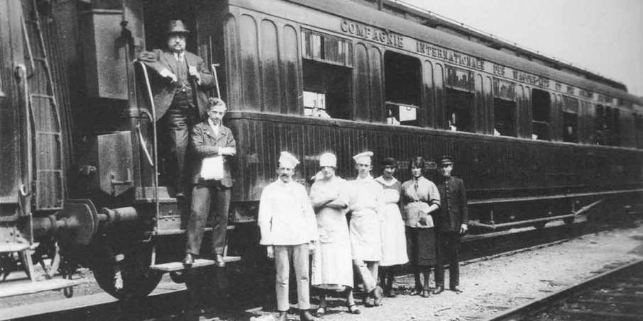 Charles Bouvier and his team on the presidential train